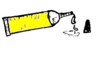 Klebstoff - Klebstoff, Kleber, Alleskleber, glue, kleben, basteln, Tube, Schulsachen, Schule, Unterricht, Uhu
