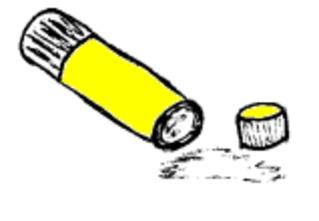 Klebestift - Klebestift, Klebstoff, Papierkleber, Kleber, glue, kleben, basteln, Schulsachen, Schule, Unterricht