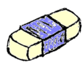 Radiergummi - Radiergummi, Radierer, radieren, rubber, Schulsachen, Unterricht, Schule