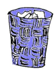 Papierkorb - Papierkorb, Mülleimer, Abfall, Papier, Klassenraum, Schule, Unterricht