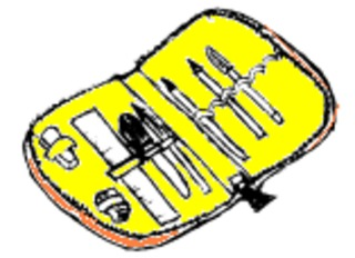 Federmappe - Federmappe, Federtasche, Etui, Mäppchen, Schulsachen, Stifte, Unterricht, Schule