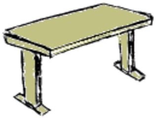 Tisch - Tisch, Schultisch, Schreibtisch, Einrichtung, Möbel, Klassenraum, Arbeitszimmer