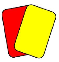 Rote und gelbe Karte - rote Karte, gelbe Karte, rot, gelb, Fußball, Foul, Strafe, Karten, Schiedsrichter, Regel