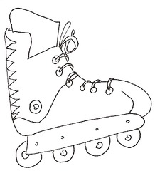 Inliner - Inliner, Inlineskates, Roller Skates, Roller Blades, Spielzeug, Spielsachen, Sport, spielen, Anlaut I