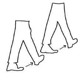 Umrisszeichnung Schritte - Umriss, Schritte, Schritt, Schrittmaß, messen, Bewegung, gehen, Maßeinheit, Länge, Einheit