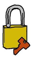 Vorhängeschloss farbig - Schlösser, Schloss, schließen, abschließen, Schlüssel, Bügel, hängen, Laut sch, Vorhängeschloss, Vorhangschloss, Hängeschloss, Einzahl, Singular, Wörter mit ä, Wörter mit Doppelkonsonanten