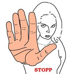 Mädchen mit Handzeichen