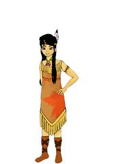 Indianerin Farbe - Indianer, Indianerin, Amerikaner, Amerikanerin, Ureinwohner, Ureinwohnerin, Karneval, Fasching, Kostüm, verkleiden