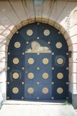 eine alte Tür - Tür, Tor, Bogen, Bauwerke, Verzierung, Nautik, Hanse, Handel, Haustür, Eingang, Löwe