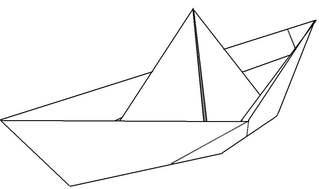 Papierschiff - Papier, falten, Faltarbeit, Origami, Faltung