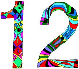 Zwölf - Zwölf, Zahl, Ziffer, Muster, Kunst, Mathematik