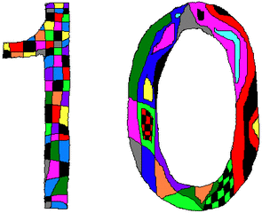 Zehn - Zehn, Zahl, Ziffer, Muster, Kunst, Mathematik