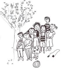 Aufstellen - Klassenregel, Aufstellen, Pause, anstellen, Wandertag, Wanderung, Gruppe, Pause im Freien, acht, Mengen, Sachaufgaben, Mathematik, Symbolkarte, Organisation