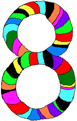 Acht - Acht, Zahl, Ziffer, Muster, Kunst, Mathematik