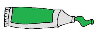 Farbtube dunkelgrün - Farbtube, Tube, Farbe, Kunst, malen, Grün, Dunkelgrün