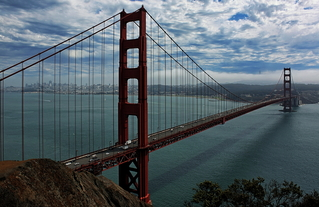 Golden Gate Bridge, San Francisco - Golden Gate Bridge, San Francisco, Frisco, Kalifornien, Hängebrücke, Bucht von San Francisco, San Francisco Bay