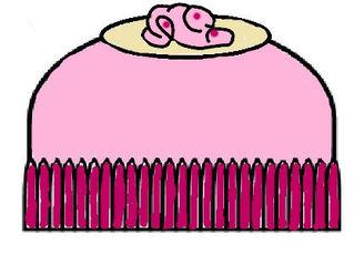 Praline farbig - Praline, Konfekt, Schokolade, Süßware, Glück, Liebe, verliebt, Geschenk, lecker, süß, Zeichnung, Illustration, rosa, Guss