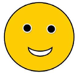 Smiley #2 - lachend - Smiley, Zeichen, Zeichnung, Illustration, Button, Bewertung, Symbol, gut, fein, Freude, lächeln
