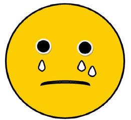 Smiley #9- sehr  traurig mit Tränen - Smiley, Zeichen, Zeichnung, Illustration, Button, Symbol, traurig, weinen, Tränen, schwierig, Enttäuschung