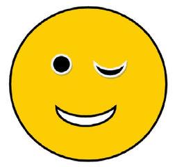Smiley #12 - zwinkernd - Smiley, Zeichen, Zeichnung, Illustration, Button, Bewertung, Symbol, zwinkern, Zwinkersmiley