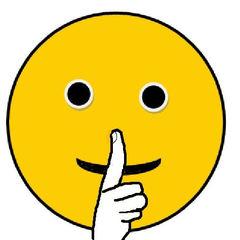 Smiley #16  Leise! - Smiley, Zeichnung, Illustration, pssst, leise, still, Ruhe, Stillarbeit, sprechen, nicht sprechen, Mund, Zeigefinger, Finger, Hand, Symbol