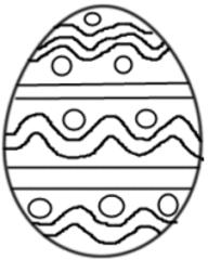 Osterei Muster 1 - Osterei, Ei, Ostern