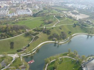 Olympiapark München #2 - München, Olympiapark, Parkgelände, Olympiasee, Parkgelände, XX., Olympische Sommerspiele, 1972