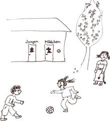 In der Pause aufs Klo - Klassenregel, Toilette, Pause, Klo, Symbolkarte, Organisation, Schreibanlass, spielen, rennen, Körpersignale, Regeln, Ballspiel, gemeinsam