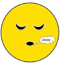 Smiley #22 schlafend - Smiley, Symbol, Button, Stimmung, Gefühl, Zeichnung, Illustration, müde, schlafen, schlafend