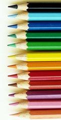 Buntstifte - Stift, Stifte, Buntstifte, Farbe, farbig, bunt, Schreibgerät, Malutensil, Utensil, malen, Kunst, Zeichengerät, Spitze, Holz, Mine, Hintergrund, Layout