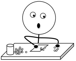 Geld einsammeln s/w - Gelddienst, Geldeinsammeldienst, Klassendienst, einsammeln, bezahlen, Geld, Illustration, Zeichnung, Piktogramm, Smiley, Klassenraum, Liste, aufschreiben