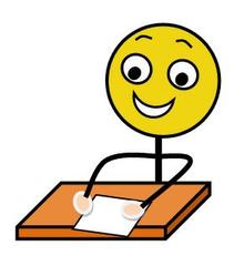 Einzelarbeit farbig - Einzelarbeit, Sozialform, Arbeitsform, still, schweigen, arbeiten, Impulskarte, Stationenarbeit, Zeichnung, Illustration, Piktogramm