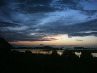 Wetterumschwung - Sonnenuntergang, Wolken, Meer, Sturm, Wetter, Stimmung, bedrohlich, finster
