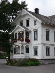 Norwegische Architektur - Architektur, Haus, Verzierung, Brevik, Vorbau