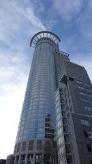 Hochhaus  #3 - Architektur, Hochhaus, Wolkenkratzer, Gebäude, Perspektive, Fassade, Glasfassade, Fluchtpunkt