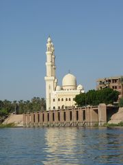 Moschee in Luxor - Moschee, Islam, islamisch, Minarett, Minarette, Luxor, Ägypten