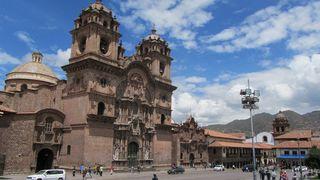 Jesuitenkirche an der Plaza de Armas in Cuzco (Peru) - Cuzco, Peru, Anden, Südamerika, Kirche, Inka