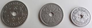 Dänische Münzen - Dänemark, Münze, Krone, Währung, Wappen