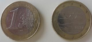 Finnische Münze - Finnland, Münze, Euro, Singschwan, Währung, Geld