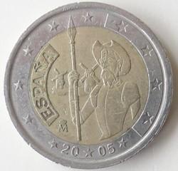Spanische Münze - Spanien, Espana, Münze, Euro, Schriftsteller, Don Quijote, Roman, Romanfigur, Windmühle