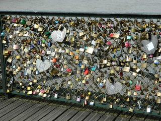 Paris, Pont des Arts - Paris, pont, Brücke, Seine, amour, Liebe, Schloss, cadenas