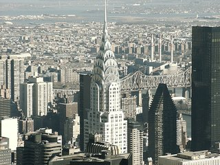 Chrysler Building - Manhattan, USA, Amerika, Wolkenkratzer, Hochhaus, Großstadt, New York, Chrysler building, big apple, spitzes Dach