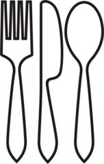 Besteck - Besteck, Messer, Gabel, Löffel, Tisch decken, Gedeck, Anlaut B, Wörter mit ck