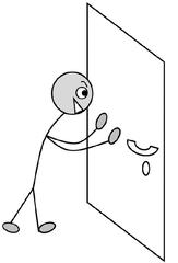 Verb; schließen, close, shut - Verb, Illustration, Zeichnung, schließen, close, shut, clipart, Bildkarte, Anlaut sch