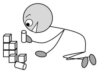 Verb: bauen / build - Verb, Illustration, Zeichnung, bauen, build, clipart, Bildkarte