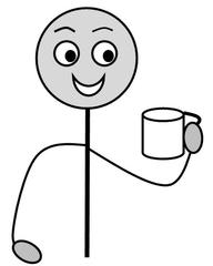 Verb: trinken / drink - Verb, Illustration, Zeichnung, trinken, drink, clipart, Bildkarte