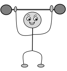 Verb: heben / lift - Verb, Illustration, Zeichnung, heben, lift, clipart, Bildkarte