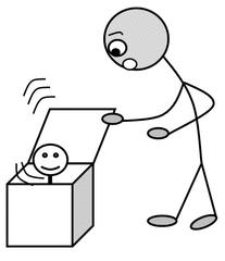 Verb: öffnen / open - Verb, Illustration, Zeichnung, öffnen, open, clipart, Bildkarte