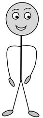 Verb: stehen / stand - Verb, Illustration, Zeichnung, stehen, Stand, Clipart, Bildkarte, Anlaut st