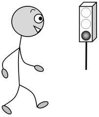 Verb: gehen / walk / go - Verb, Illustration, Zeichnung, gehen, walk, go, clipart, Bildkarte